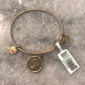 Alex & Ani initial E bangle bracelet
